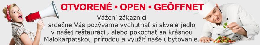 Motel na Vrchu - otvorené
